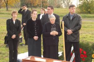 Gyászistentisztelet Bahor János 2005.10.09
